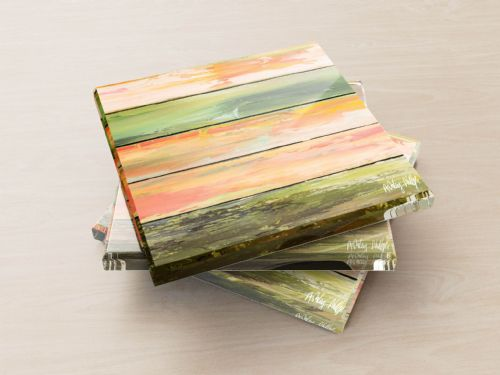 Weathered Paint Green - Glass Coasters